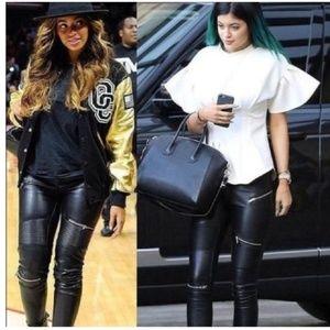 Zara zipper biker pants